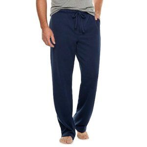 Mens Navy Fleece Lounge Pants Small